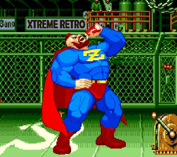 Zangief Street Fighter Alpha Pixel Art Capcom