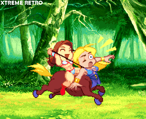 Chibi Tyris Flare Dora Golden Axe Pixel Art Sega Xtreme Retro