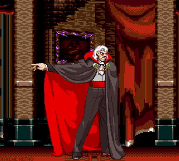 Dracula Pixel Art Xtreme Retro