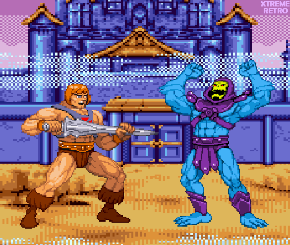 He-Man Skeletor Masters of the Universe Pixel Art Xtreme Retro Videogame