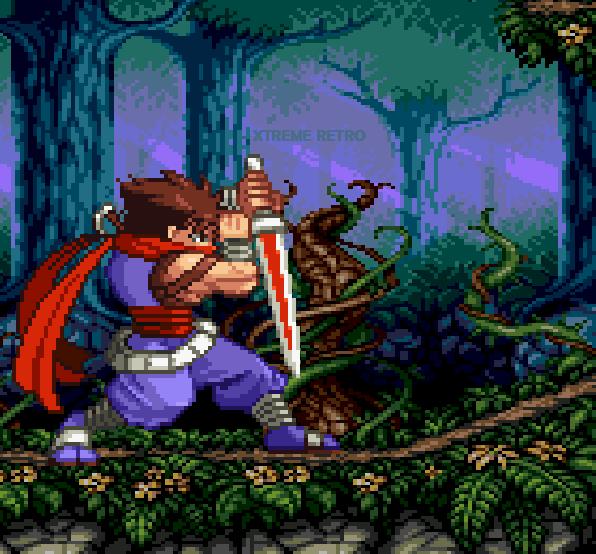 Strider Hiryu Capcom Pixel Art Sword