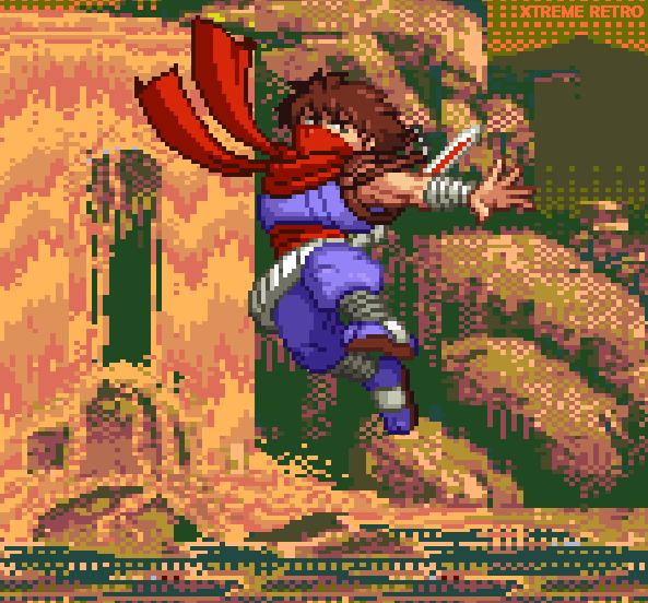Strider Hiryu Pixel Art Capcom Xtreme Retro