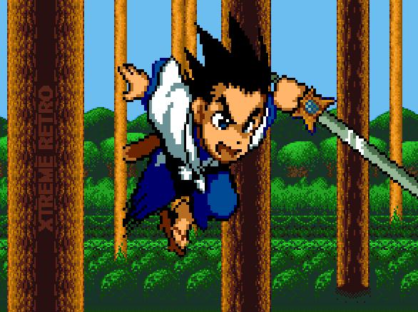 Yaiba Adventures Game Gear Anime Pixel Art Gosho Aoyama Xtreme retro