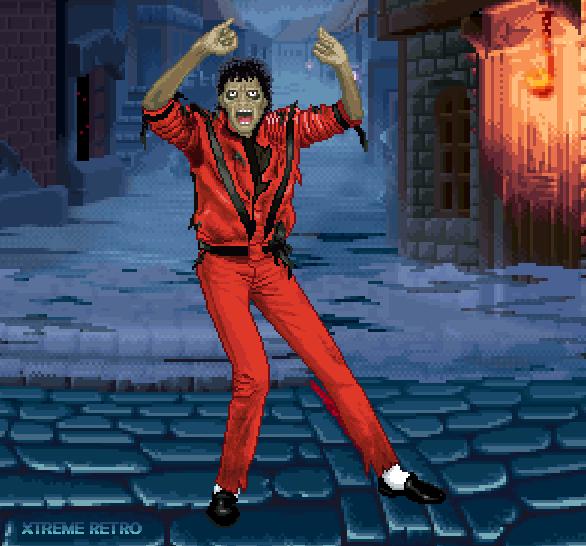 Michael Jackson Pixel Art Xtreme Retro Zombie