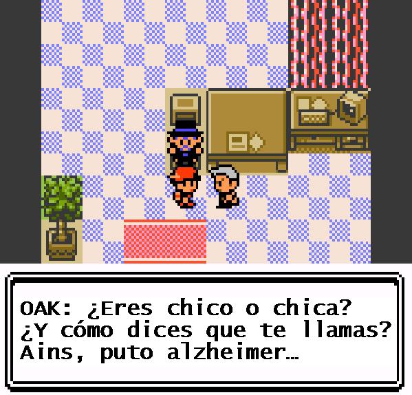 Pokemon Crystal Game Boy Color Professor Oak