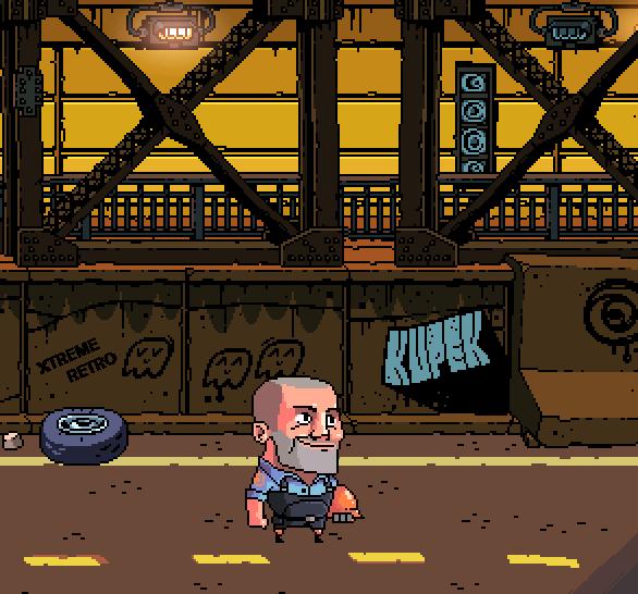 Apocalypse Pixel Art Bruce Willis PSOne Xtreme Retro 2