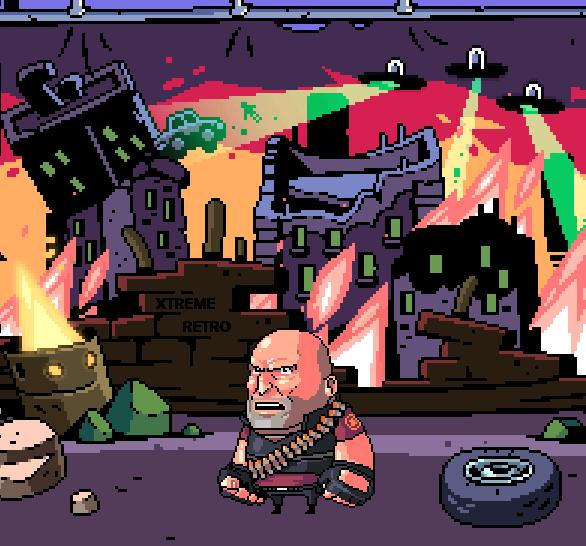Apocalypse Pixel Art Bruce Willis PSOne Xtreme Retro 3