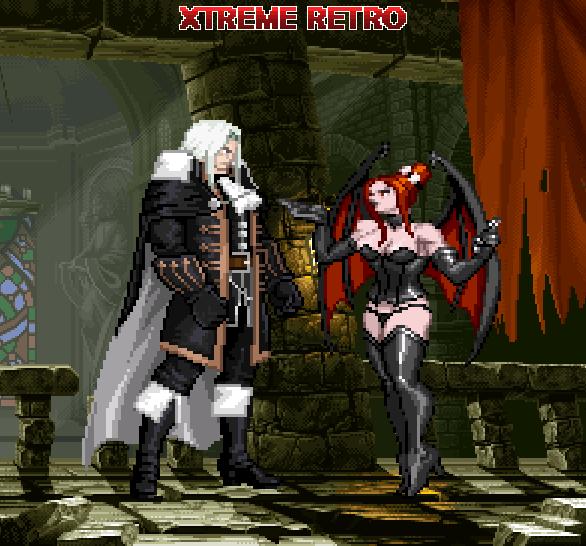 Castlevania Symphony of the Night Pixel Art Xtreme Retro PSOne Saturn Konami Alucard Succubus