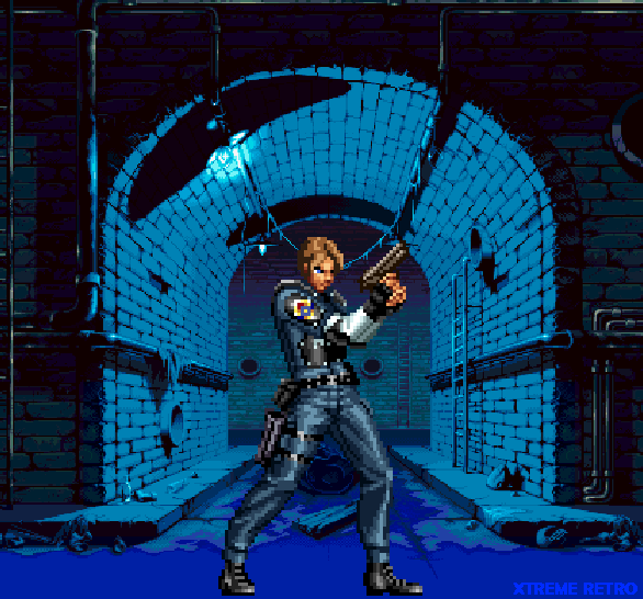 Leon S Kennedy Capcom Resident Evil 2 Capcom Pixel Art PlayStation Xtreme Retro
