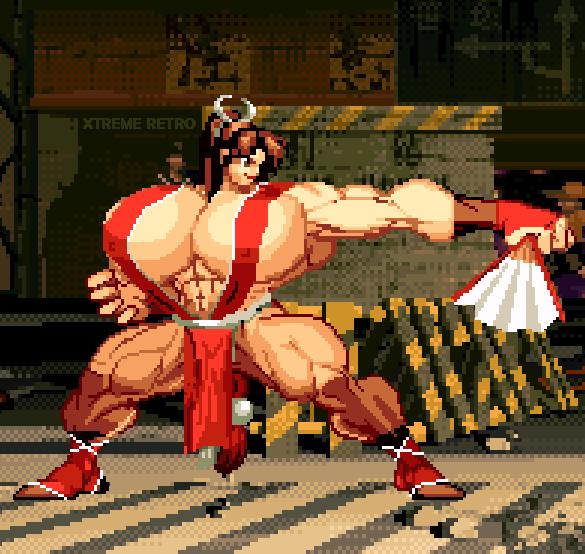 Mai KOF Xtreme Retro Pixel Art