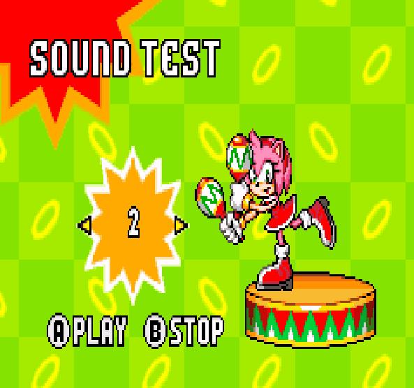 Sonic Advance Amy Rose Sound Test Xtreme Retro