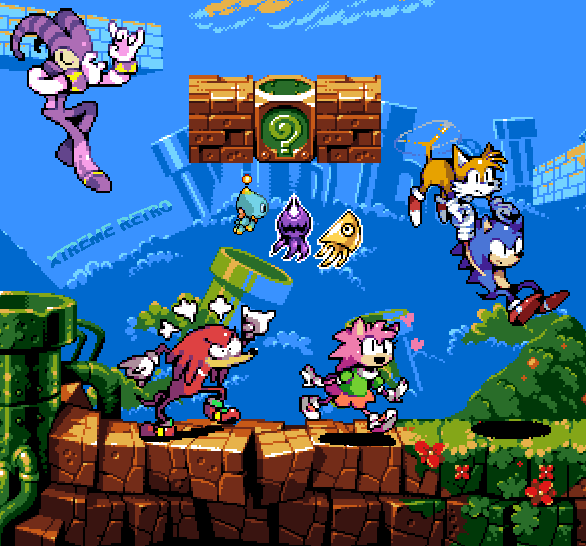Sonic Advance Pixel Art Sega Xtreme Retro Game Boy Advance Knuckles Amy Rose Nights Chao Sonic Colours