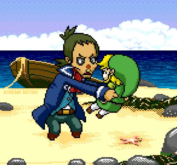 The Legend of Zelda Phantom Hourglass Pixel Art Xtreme Retro Nintendo DS Link