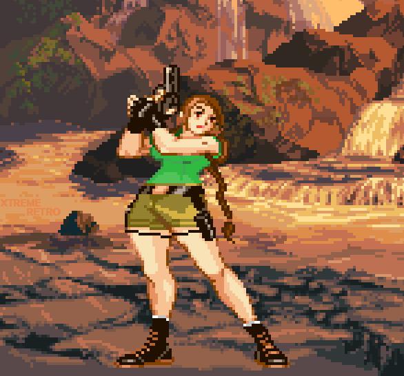 Tomb Raider IV The Last Revelation Lara Croft Lara Weller Pixel Art Xtreme Retro