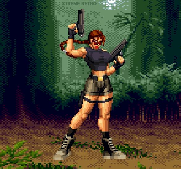 Tomb Raider VI The Angel Of Darkness Lara Croft Jill de Jong Pixel Art Xtreme Retro