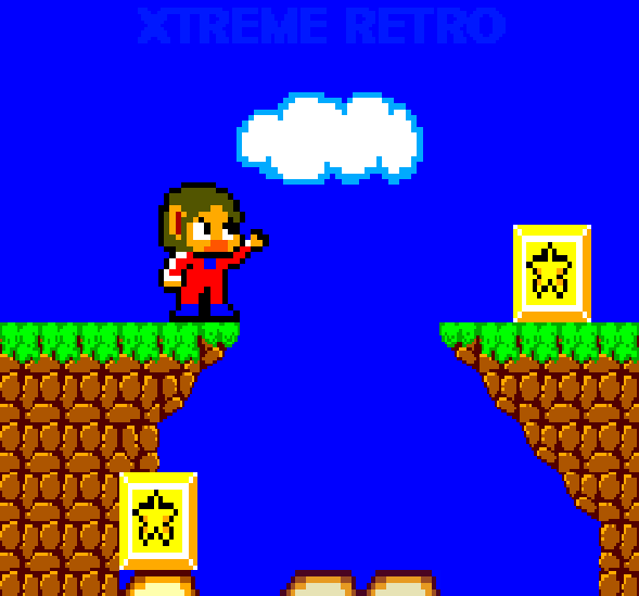Alex Kidd in Miracle World Master System Pixel Art Xtreme Retro Sega 1