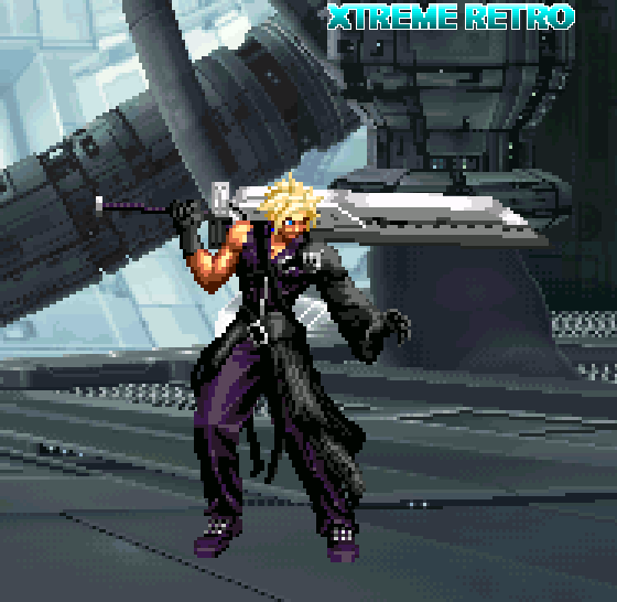 Cloud Strife Pixel Art Square Enix PSOne FF VII Xtreme Retro RPG
