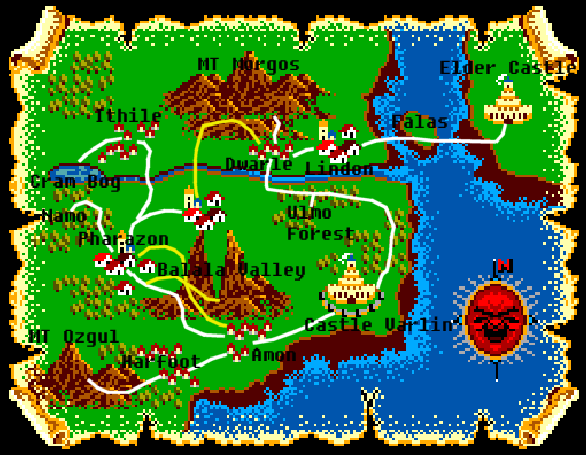 Lord of the Sword Sega Master System WORLD MAP Xtreme Retro