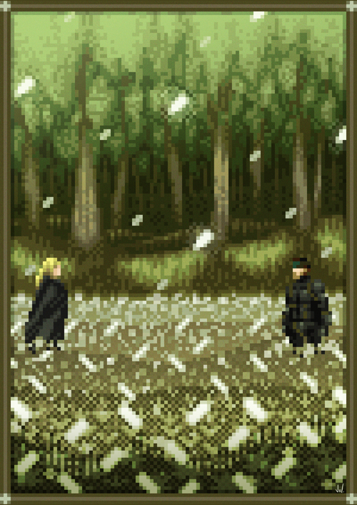 MGS3 Pixel Art Snake The Boss Konami PS2 Xtreme Retro