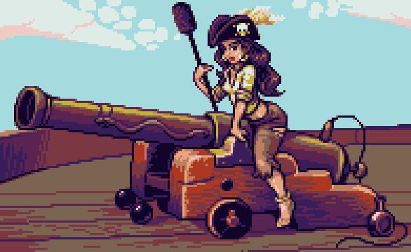 Pirate Woman Xtreme Retro Pixel Art