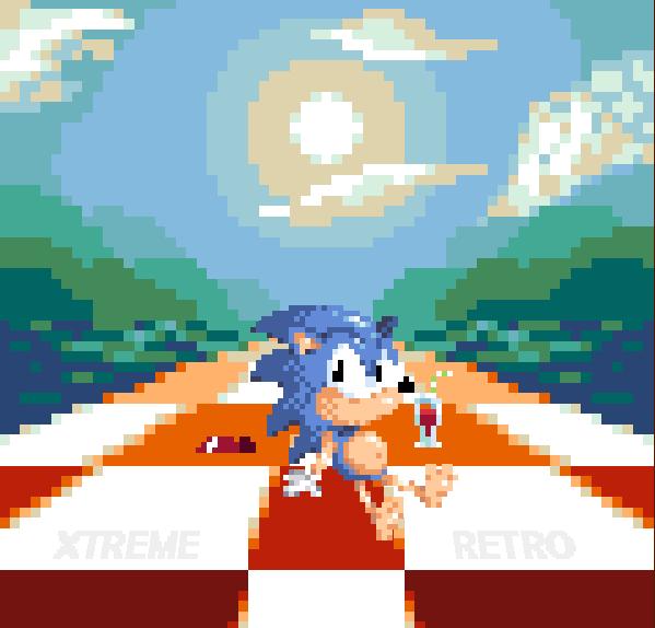 Sonic Labyrinth Sega Game Gear Pixel Art Xtreme Retro 8 bits