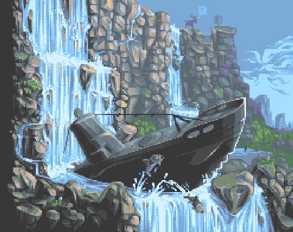 Submarine Attack Master System Pixel Art Xtreme Retro