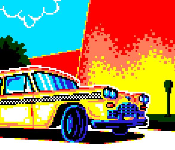 Crazy Taxi Sega Dreamcast Pixel Art PS2 Xtreme Retro