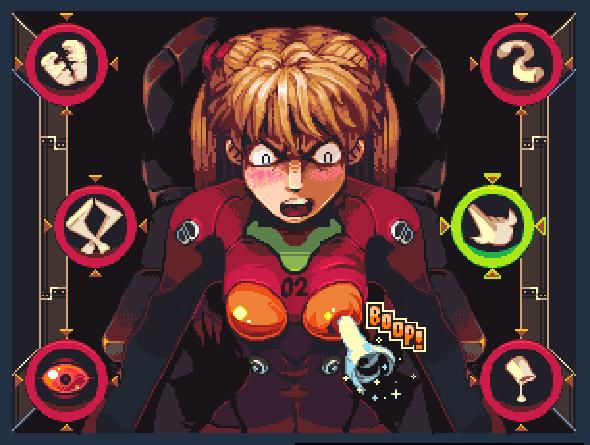 Evangelion N64 Pixel Art Xtreme Retro Asuka 2