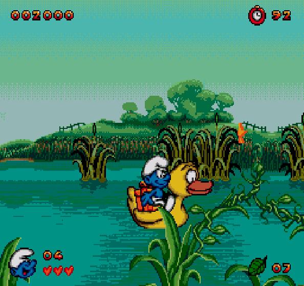 Los Pitufos Mega Drive Xtreme Retro