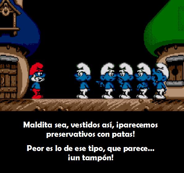 Los Pitufos The Smurfs intro videogame Xtreme Retro