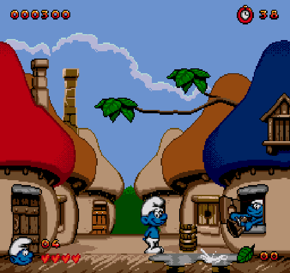 Los Pitufos aldea Mega Drive Pixel Xtreme Retro