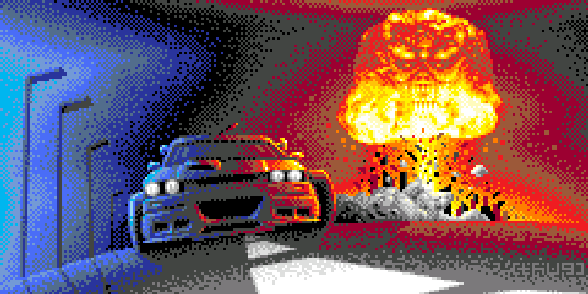 Ray Tracers PSOne Pixel Art Xtreme Retro Chase HQ