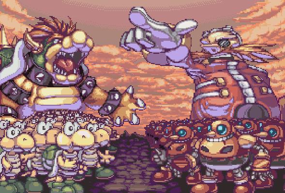 Sega VS Nintendo Pixel Art Eggman Robotnik VS Bowser Xtreme Retro