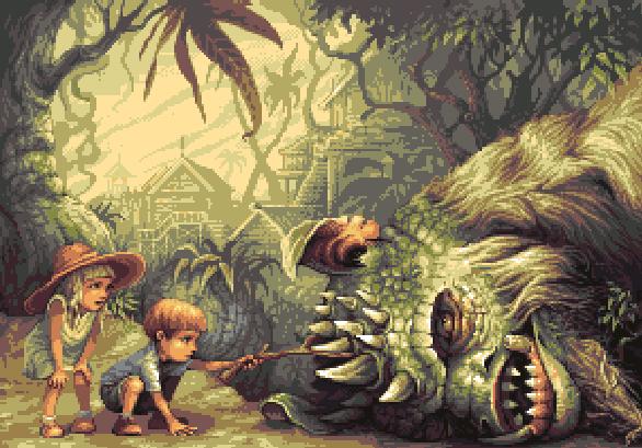 Shadow of the Colossus Team Ico Pixel Art PS2 Xtreme Retro Kids