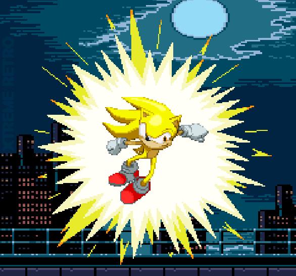 Sonic 2 Sega Pixel Art Xtreme Retro 2 Super Sonic Mega Drive Sega Genesis