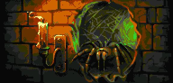Spider PSOne Game Xtreme Retro Pixel Art