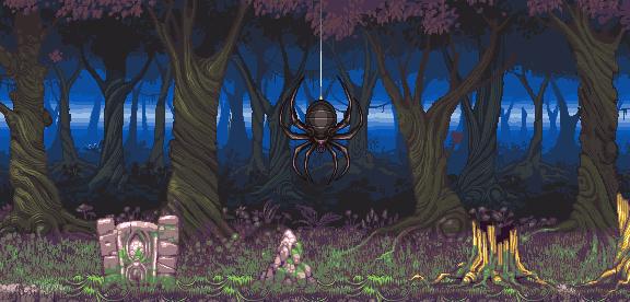 Spider PSX Game Xtreme Retro Pixel Art
