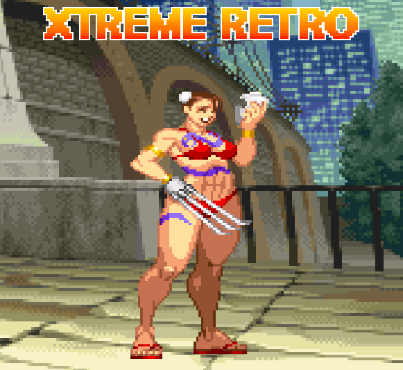 Chun Li Vega Pixel Art Capcom Street Fighter Xtreme Retro