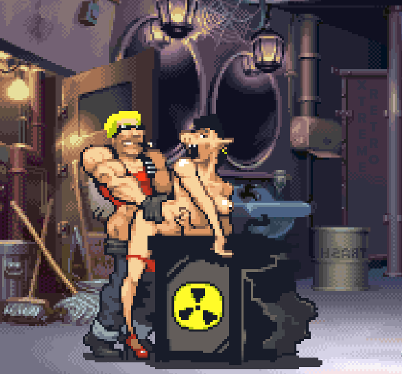 Duke Nukem Forever Pixel Art Xtreme Retro PS3 XBOX 360 FPS