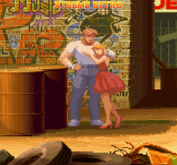 Final Fight Capcom Cody and Jessica Pixel Art Xtreme Retro