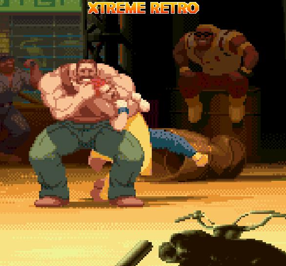 Final Fight Capcom Haggar and Damnd Pixel Art Xtreme Retro