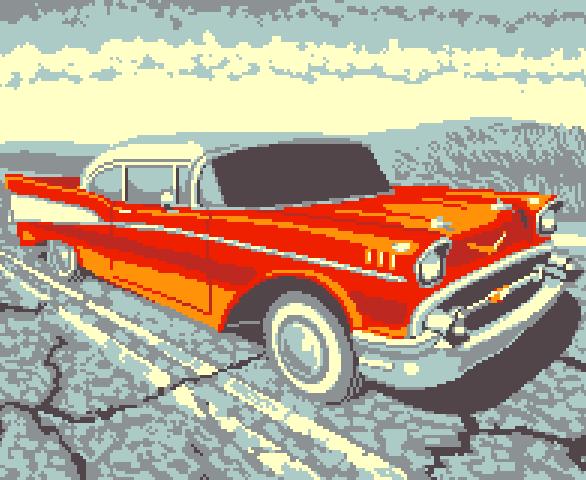 Ford Racing 3 GBA Xtreme Retro Pixel Art