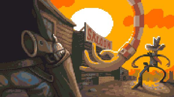 Lucky Luke Pixel Art PlayStation Ubisoft Xtreme Retro