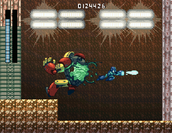 Megaman VS Gutsman Capcom Pixel Art Xtreme Retro