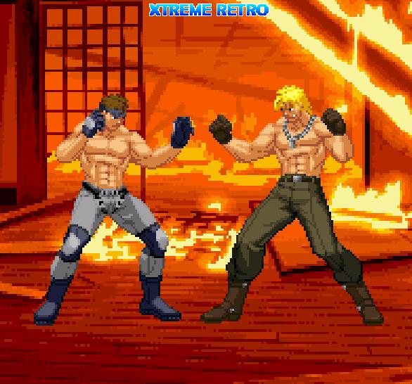 Metal Gear Solid Pixel Art Solid Snake Liquid Snake PSOne Xtreme Retro Konami