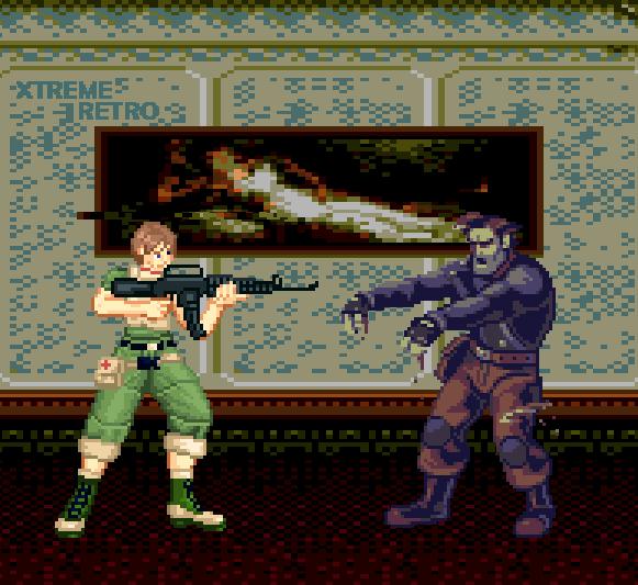 Resident Evil Zero GameCube Wii Capcom Pixel Art Rebecca Chambers Zombie Xtreme Retro