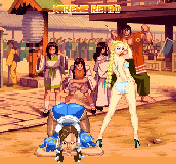 Street Fighter Cammy Chun Li Sexy Soft Porn Pixel Art Xtreme Retro 32 bits