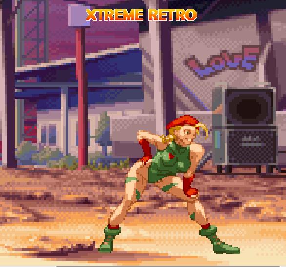 Street Fighter Pixel Art Capcom Cammy Xtreme Retro