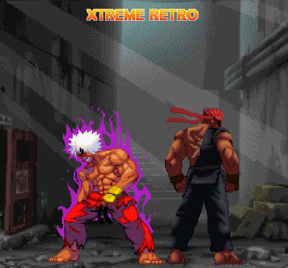 Street Fighter Pixel Art Capcom Evil Ryu Violent Ken Xtreme Retro Versus