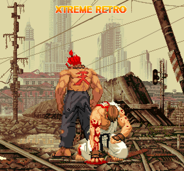 Street  Fighter Ryu Pixel Art Xtreme Retro 1